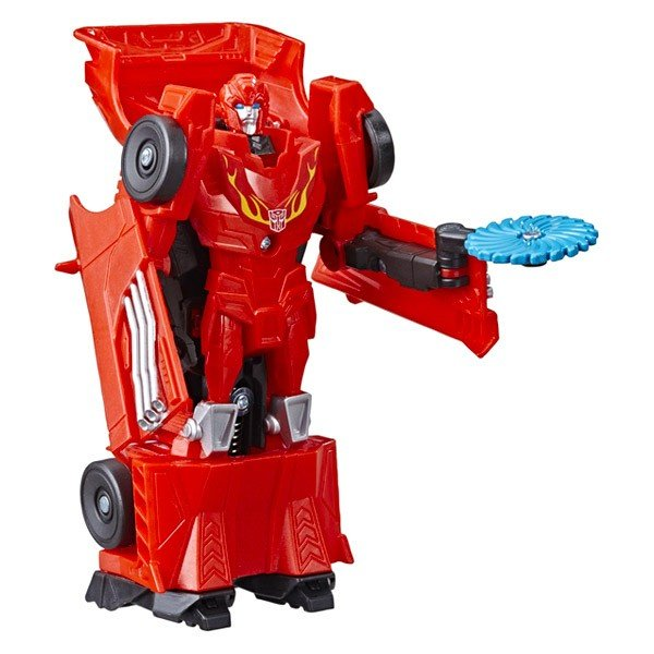Figurina robot Hot Rod 1-Step Changer Fusion Flame Transformers Cyberverse